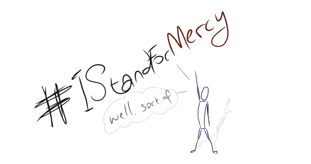 #istandformercy